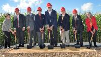 Ground was broken Sept. 13 for Iowa State University's new feed mill and grain science complex.